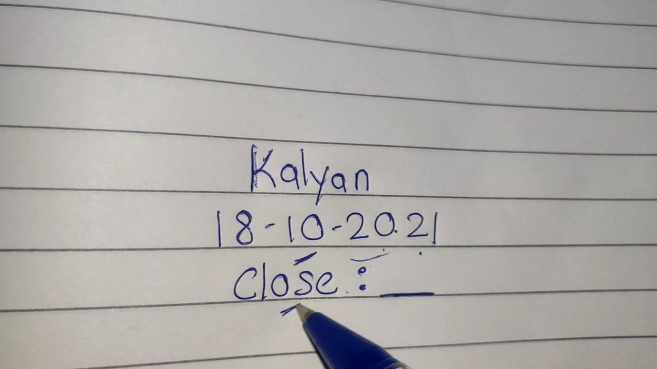 18-10-21  Kalyan single close ki trick fatafat dekhlo jaldi se -