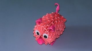 3d Origami How To Make A Pig (piglet) Tutorial (modular Origami)