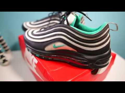b8a4fca3fe UNBOXING NIKE AIR MAX 97 BLACK-EMERALD GREEN-WHITE - YouTube