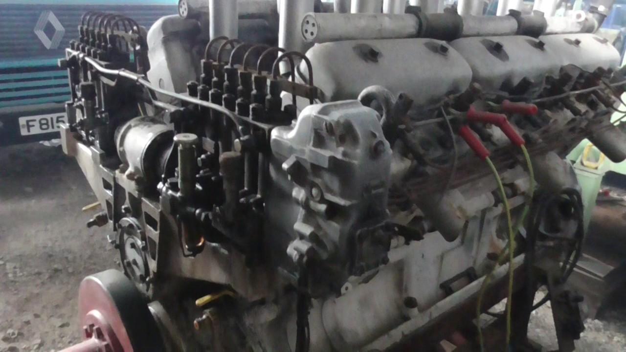 maybach german v12 diesel engine - youtube