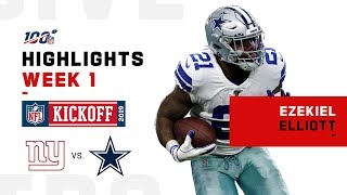 Ezekiel Elliott Highlights vs. Giants | NFL 2019