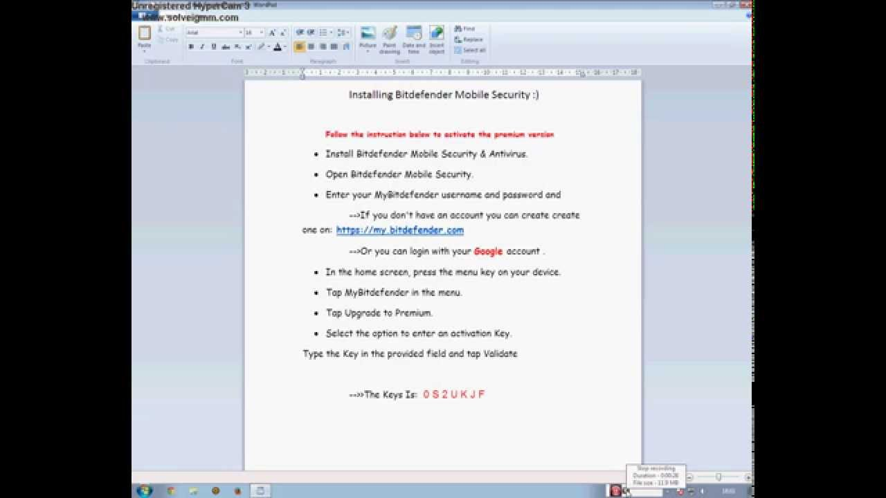 Key for bitdefender mobile security youtube.