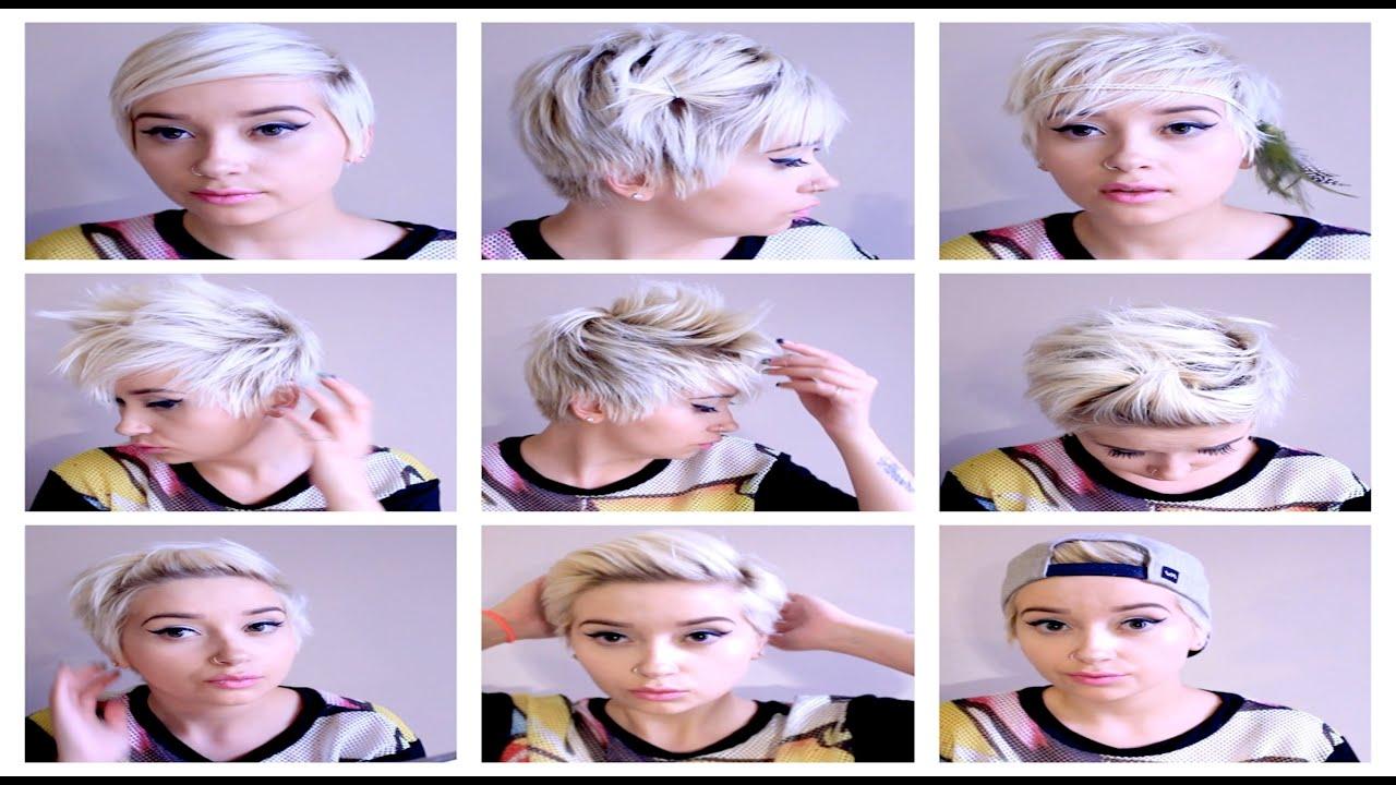 Seven No Heat Pixie Hairstyles Hair Tutorial Pt 3 Youtube