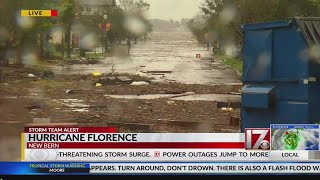 Aftermath of Hurricane Florence in downtown New Bern