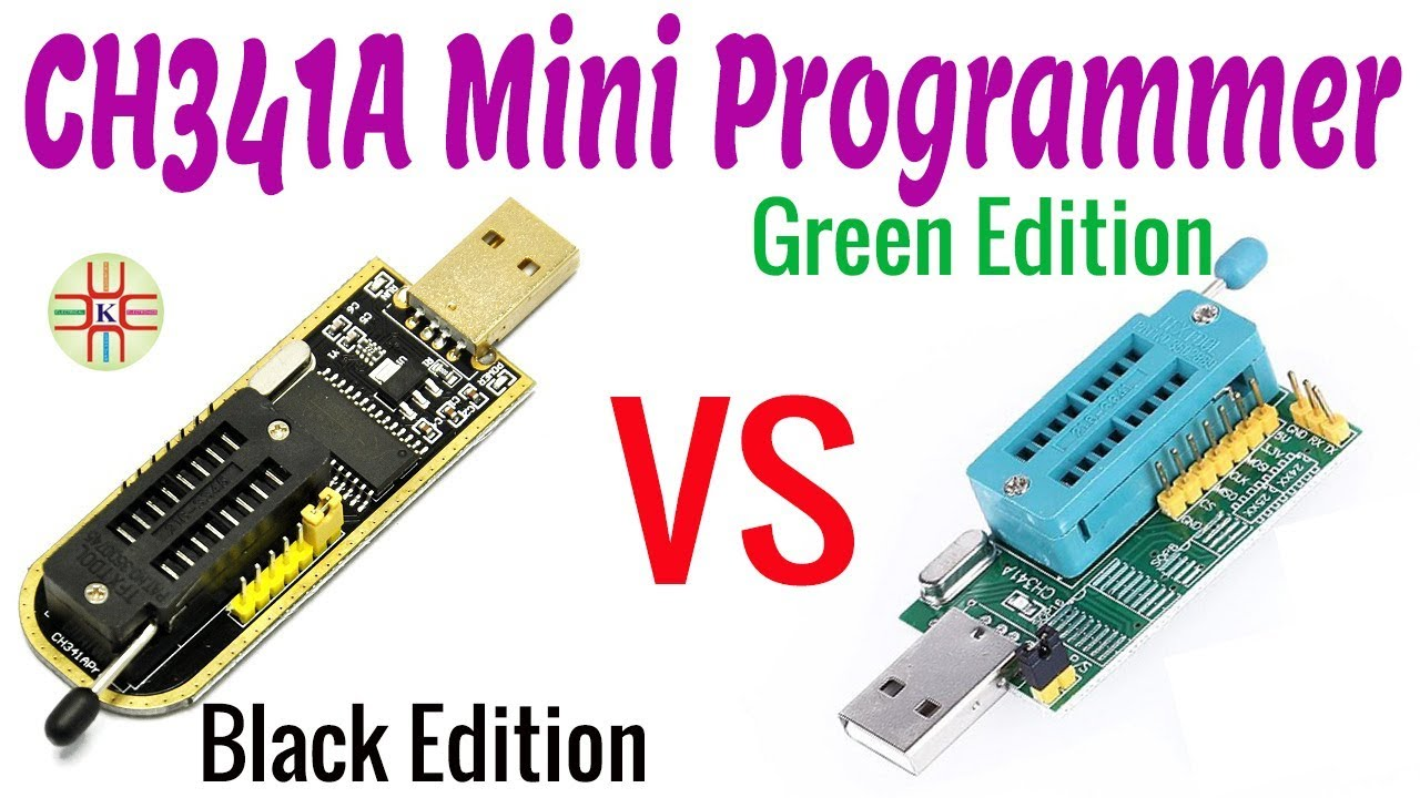 CH341A Mini USB Programmer Black Edition vs Green Edition with Schematic  Diagram Guide in Urdu/Hindi