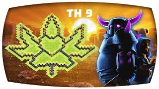 Clash of Clans - Epic TH 9 Trophy/ClanWar/Farming Base--The Weed Sheet--➞Speed Build