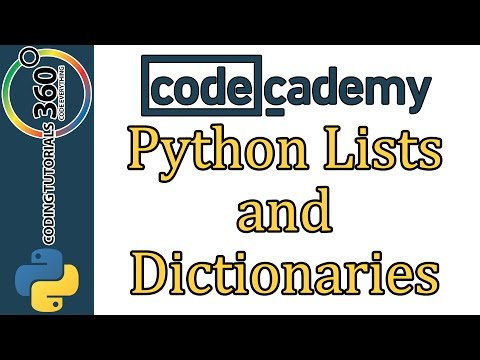 Learn Python with CodeCademy: Lists and Dictionaries