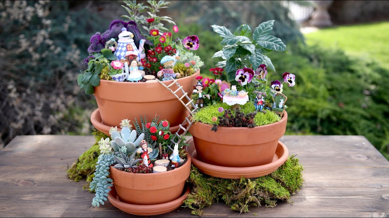 Alice in Wonderland Fairy Garden // Garden Answer - YouTube