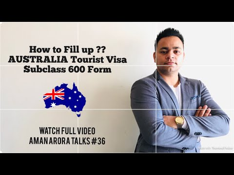 How To Fill Australia Tourist Visa Application Form 1419 || Aman Arora Talks
