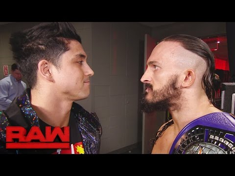 TJ Perkins confronts Neville: Raw, April 10, 2017