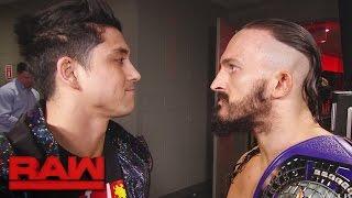 TJ Perkins confronts Neville: Raw, April 10, 2017
