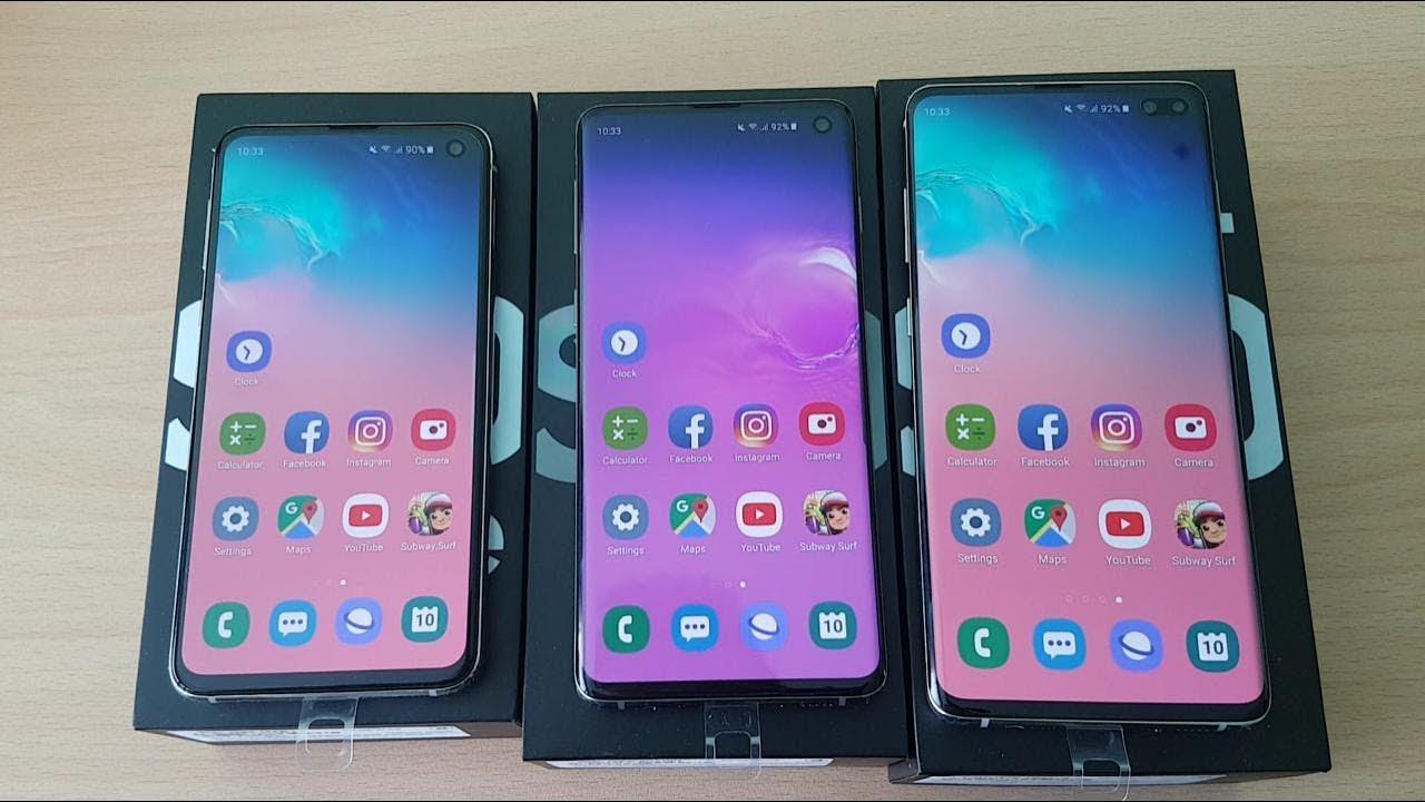 Battery Test: Galaxy S10E , S10, S10+