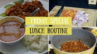 Friday Lunch Routine -Indian | Cooking Lunch & Dinner Together in Under 45 Mins Vlog | #FoodieFriday
