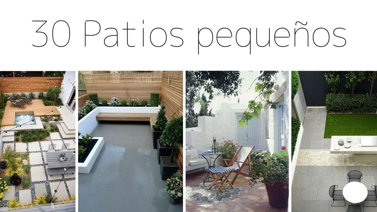 Patios jardines peque os 30 im genes para inspiraci n - Jardines pequenos de casas ...