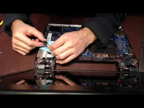 How to replace a laptop dc power jack socket input port connector on wyse  XNOM
