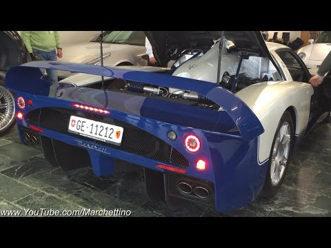Pagani Zonda F & Maserati MC12 - Start Ups and Slight Revs