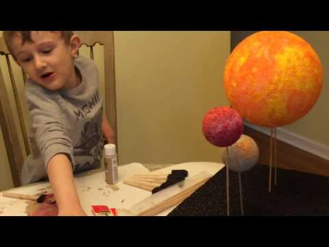 Brian & Aunt Julie Build Our Solar System (Edited)