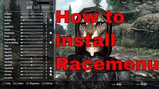 Skyrim | How to install Racemenu manually