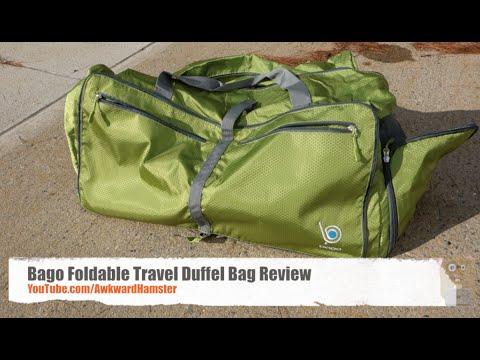 b5e18d33546d Bago Foldable Travel Duffel Bag Review - YouTube
