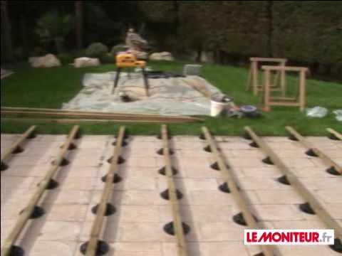 Montage terrasse bois - YouTube - Comment Poser Une Terrasse Bois