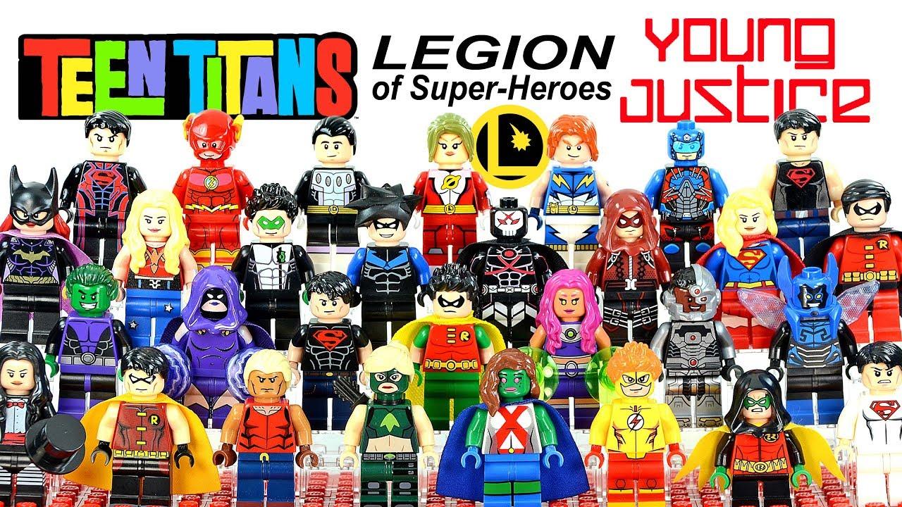 WONDER GIRL Minifigure Lego MOC Titians Season Movie Figure DC Marvel For Kid