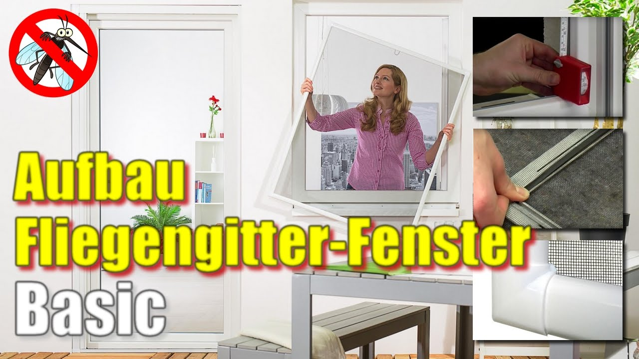 Super Fliegengitter Fenster BASIC [Montage-Video] - YouTube QV16