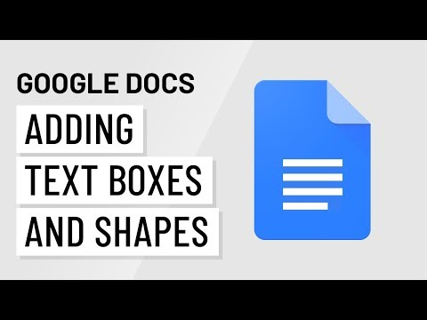 Google Docs: Inserting Text Boxes and Shapes Print Page
