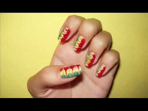 reggae nail art tutorial   youtube