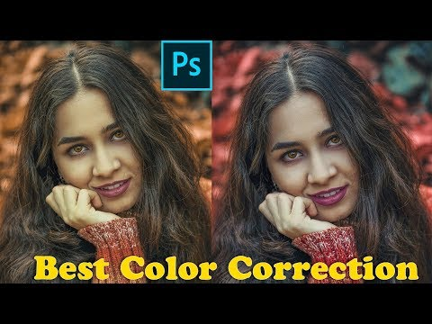 Professional color skin tones in Photoshop tutorial thumbnail