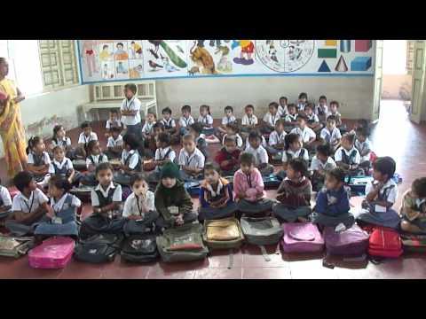 Toddlers primary school in Vankaner, Bardoli, Gujarat, India; 15th February 2012  1