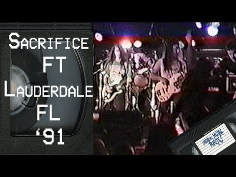 SACRIFICE Live in Ft Lauderdale FL December 1 1991 FULL CONCERT