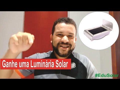Ganhe uma luminária solar led