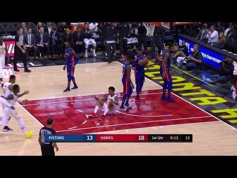 1st Quarter, One Box Video: Atlanta Hawks vs. Detroit Pistons