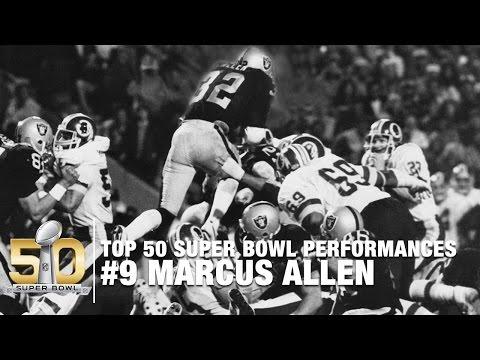 #9: Marcus Allen Super Bowl XVIII Highlights   Redskins vs. Raiders   Top 50 SB Performances