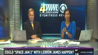 WWLTV Eyewitness Morning News - A Strange Case of Space Jam (7-23-2015)
