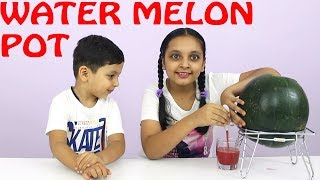 WATERMELON POT | Indian Kids cooking | Beat the heat with juice dispenser | Aayu and Pihu Show