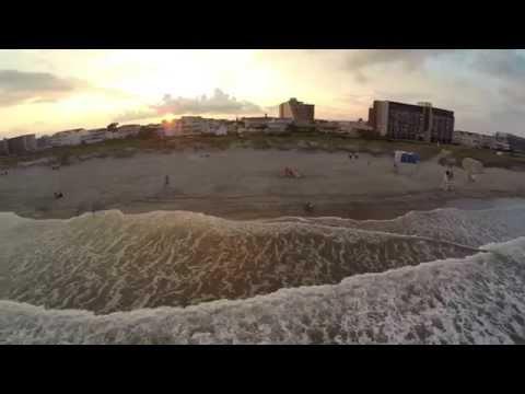 North Wildwood NJ Surfing 7th Ave Phantom 2 Drone