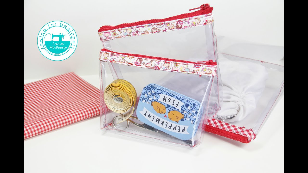Diy Clear Pencil Case Cosmetic Bag Youtube