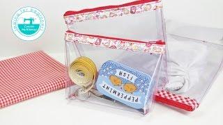 DIY clear pencil case / cosmetic bag