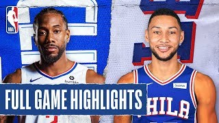 CLIPPERS at 76ERS | FULL GAME HIGHLIGHT...