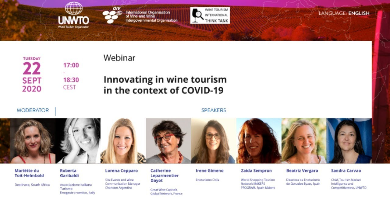"UNWTO-OIV webinar on ""Innovating in wine tourism in the context of COVID-19"""