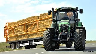 WIELTON Ballenwagen mit Ladungssicherung // 1- Achs Dolly // Deutz-Fahr & Fendt Traktoren