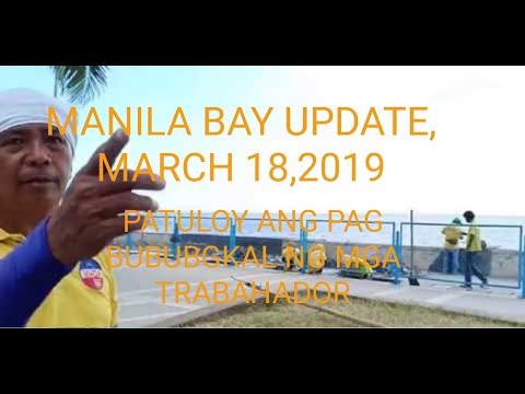 Manila Bay Update, March 18,2019, Patuloy Ang Pag bubungkal ng mga Trabahador/Miz July