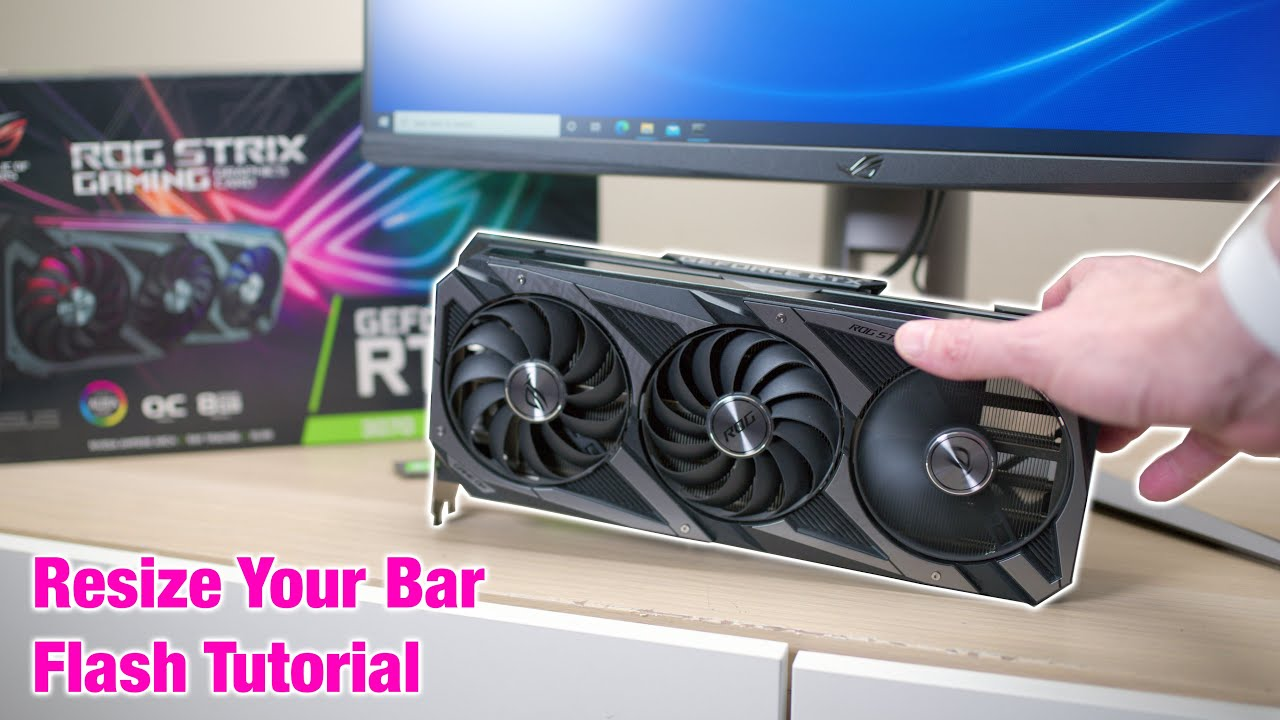 Download How To Flash NVIDIA 30 Series Resizable BAR Firmware Update Tool VBIOS 3060 Ti 3070 3080 & 3090