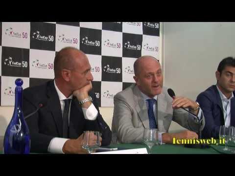 Finale FedCup 2013 Cagliari Conferenza stampa presentazione Italia-Russia