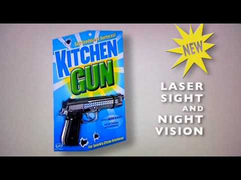 Model made by joebro in the fantastic video at the top of the addon. Kitchen Gun - YouTube