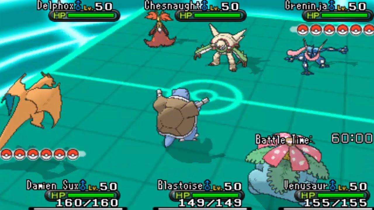 Pokemon X and Y Triple Battle WiFi - GEN 1 VS GEN 6 ! - YouTube