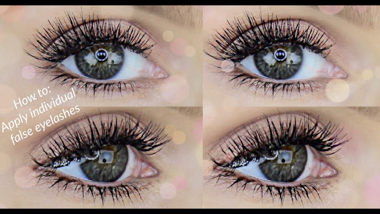 4634d511c09 HOW TO APPLY INDIVIDUAL FALSE LASHES | RACHAEL BROOK - YouTube