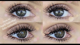 One of Rachael Brook's most viewed videos: HOW TO APPLY INDIVIDUAL FALSE LASHES | RACHAEL BROOK