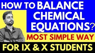 HOW TO BALANCE ANY CHEMICAL EQUATION? BEST TRICK